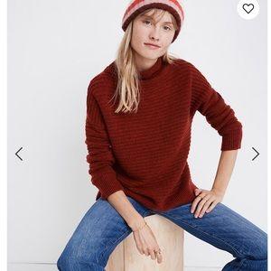 New Madewell Belmont Mockneck Sweater Coziest Yarn